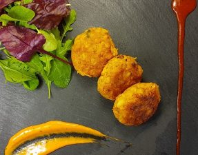Cailiflower and Sweet Potato Cakes